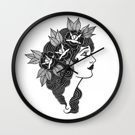 Pinup Profile Wall Clock