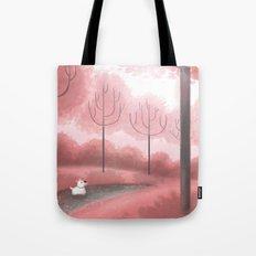 Pink Trees Tote Bag
