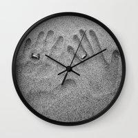 hands Wall Clocks featuring Hands by Urlaub Photography