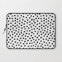 Dalmatian Dots Black White Spots Laptop Sleeve