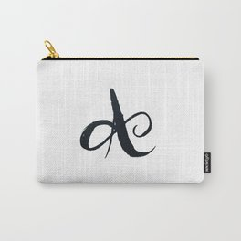 Typography A - Uppercase Carry-All Pouch
