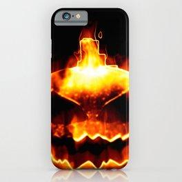 Halloween smiling pumpkin head iPhone Case
