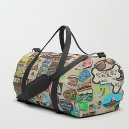 My Cool Decals - Travel Stickers Duffle Bag