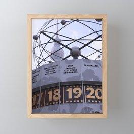 Weltzeituhr  Framed Mini Art Print