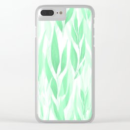 Watercolour Leaves Clear iPhone Case