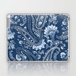 Blue indigo paisley Laptop & iPad Skin