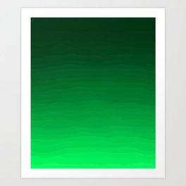 Happy Bright Apple Green Ombre Art Print