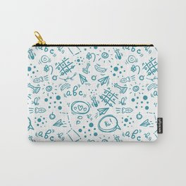 School geek doodle seamless pattern Carry-All Pouch