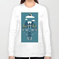 explore Long Sleeve T-shirts featuring explore by Zachary Kiernan