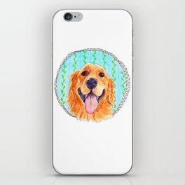 You're Never Fully Dressed without a Smile, Golden Retriever, Whimsical Watercolor Painting, White iPhone Skin