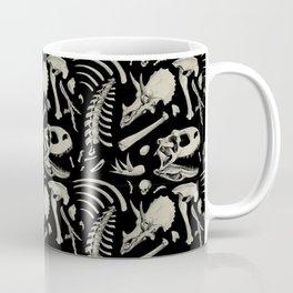 Dino Bones Black Coffee Mug