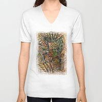 urban V-neck T-shirts featuring urban by gasponce
