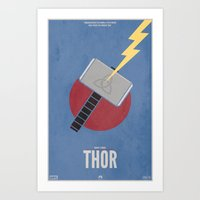 thor Art Prints featuring Thor by Steal This Art