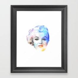 The Blond Bombshell Framed Art Print