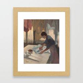 Woman Ironing Framed Art Print