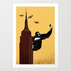 King Kong Love to Selfie Art Print