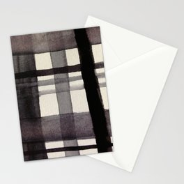 Painterly Plaid Stationery Cards