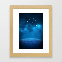 Aquarius: Astrological Art Framed Art Print