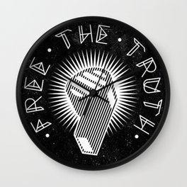 Wikileaks - Free The Truth - Blow the Whistle Political Illustration Wall Clock