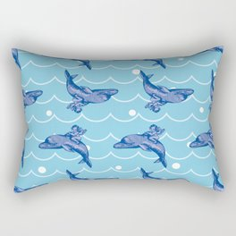 the Angel on the Dolphin on the Sea Wave_B02 Rectangular Pillow