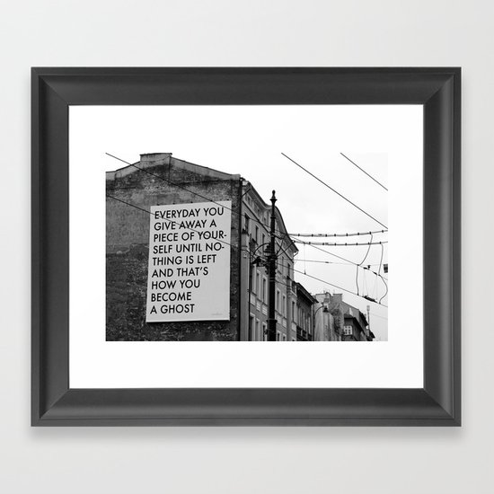 HOW TO BECOME A GHOST Framed Art Print