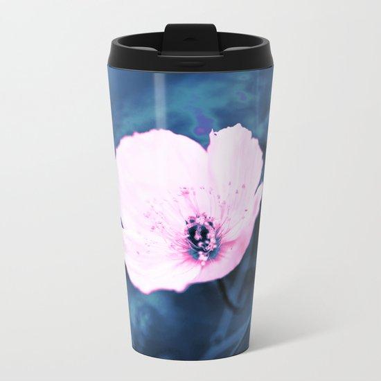 September Flower Metal Travel Mug