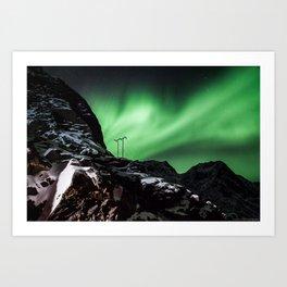 Aurora in Lofoten, Norway (II) Art Print