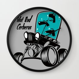 Hot-rod Cerberus Wall Clock