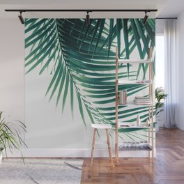 Palm Leaves Green Vibes #4 #tropical #decor #art #society6 Wall Mural