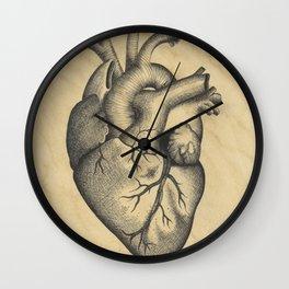 Ink Heart Wall Clock