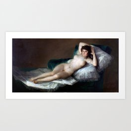 Nude Maja by Francisco Goya Art Print