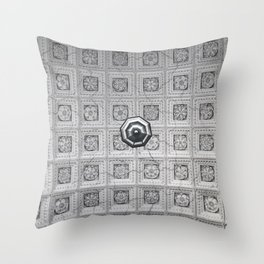 The network of flower ornaments on the ceiling of the hall of St. Isaac's Cathedral. Saint-Petersbur Throw Pillow