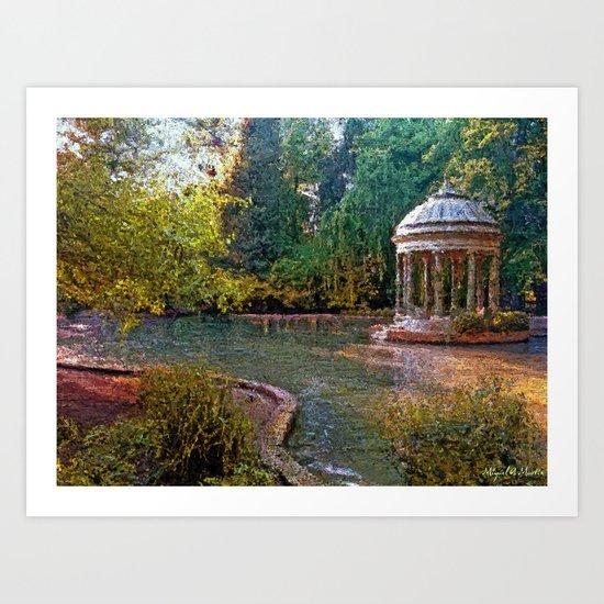 Idyllic Garden Art Print
