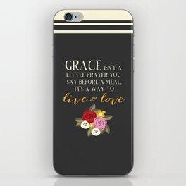 Live GraceFULLY iPhone Skin