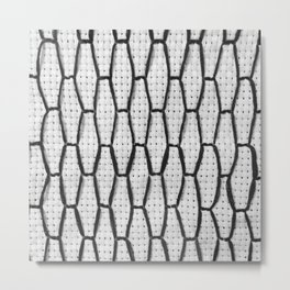 Vintage Window Grille Cross Stitch Pattern #3 Metal Print