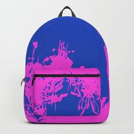 Blue And Hot Pink Grunge Artwork Backpack