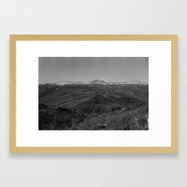 B&W Italian Landscape Framed Art Print
