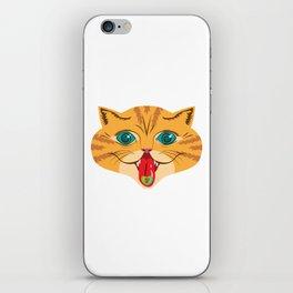 Kiss Me Ginger Cat iPhone Skin