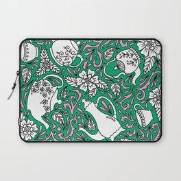 Tea Time Green Laptop Sleeve