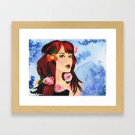 Miss February Framed Art Print
