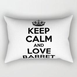 Keep calm and love BARRET Rectangular Pillow