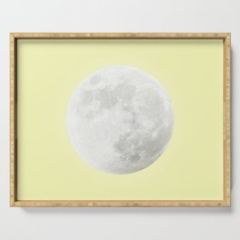 WHITE MOON + CANARY YELLOW SKY Serving Tray