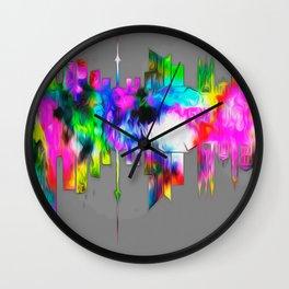 City skyline  014 03 03 17 Wall Clock