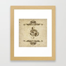 Henna Inspired 4 Framed Art Print