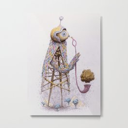Pipe Bird Metal Print