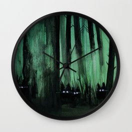 Psypuff forest 01 Wall Clock