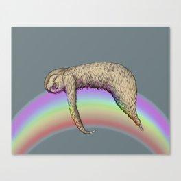 Nap (Sloth & Rainbow 2) Canvas Print