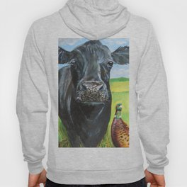 Cow and a pheasant  Hoody