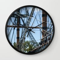 pirates Wall Clocks featuring Pirates! by NL Designs