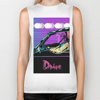 drive Biker Tanks featuring Drive by Evil Twin
